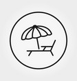 sunbed under umbrella icon editable vector image