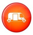 Thailand three wheel native taxi icon flat style vector image vector image