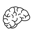 thinking brain icon outline style vector image vector image