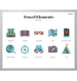 travel elements flat pack vector image