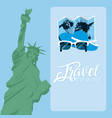 travel the world card vector image vector image