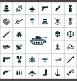 war simple icons universal set for web vector image