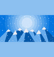 winter mountain landscape is flat style vector image vector image
