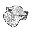 wolf head tattoo sketch vector image