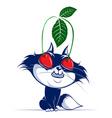 cartoon cat with cherry eye vector image