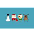 Pixel Christmas Characters vector image