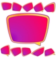 Abstract 3D speech bubble background plus EPS10 vector image