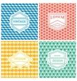 Monogram luxury logo vector image