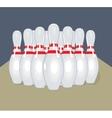 pins Realistic Bowling vector image