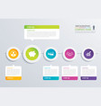 5 step circle timeline infographic options vector image vector image