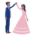 a young married couple dancing in the wedding vector image vector image