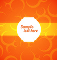 Abstract Frame with orange background vector image vector image