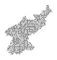 Abstract schematic map of north korea from the