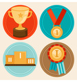 awards medals vector image vector image