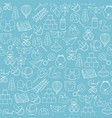 baby toys seamless pattern on blue background vector image