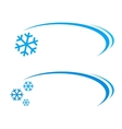 background with snowflake vector image vector image