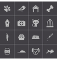 black pet icons set vector image vector image