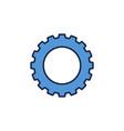 blue gear concept icon or logo vector image