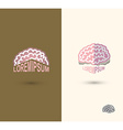 Brain logo design template brain as a book with vector image vector image