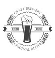 brewery isolated icon craft beer house emblem vector image vector image