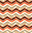 Brown zig zag seamless pattern vector image vector image