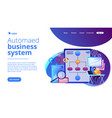 business process automation bpa concept landing vector image vector image