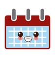 calemdar schedule symbol kawaii cute cartoon vector image vector image