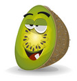 cartoon funny kiwi character vector image vector image