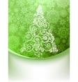 Christmas Tree Greeting Card EPS 8 vector image vector image