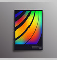colorful gradient rainbow design for flyer poster vector image vector image
