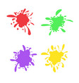 colorful ink spots set splash splatter abstract vector image vector image