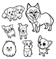 Coloring Book Dog set vector image