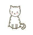 cute little cat isolated vector image