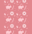 cute seamless pattern with rabbit cartoon vector image vector image