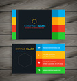dark simple business card vector image vector image