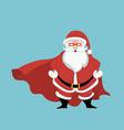 design of santa claus superhero vector image