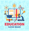 education poster with flat colorful icons vector image vector image