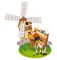 Farm boy vector image vector image