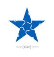 fish-hook star vector image