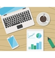 Flat Style Modern Design of Office Workplace vector image vector image