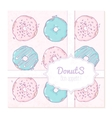 Food delivery box design with hand drawn donuts vector image vector image