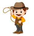 funny cartoon cowboy vector image vector image