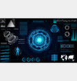 futuristic sci fi modern user interface set vector image vector image