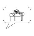 gift inside bubble design vector image
