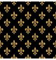 Golden fleur-de-lis seamless pattern black 1 vector image vector image