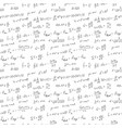 handwriting scientific background seamless pattern vector image vector image