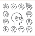 Head line icons set vector image