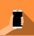 holding smartphone in hand vector image