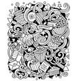 holiday hand drawn doodles vector image
