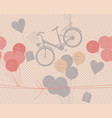 holiday pattern with retro bicycle balloons and vector image
